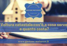 Domanda di voltura catastale cosa serve e quanto costa